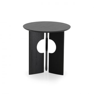 Table d'appoint Cove Teck Noir Vernis