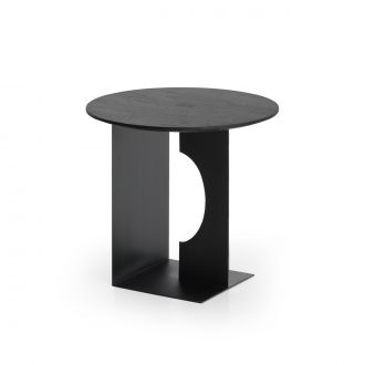 Table d'appoint Arc Teck Noir Vernis