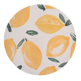 Assiette Bambou Sicilian Summer Lemon