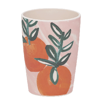 Tumbler Bambou Sicilian Summer Pink Orange