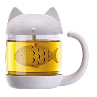 Mug chat infuseur