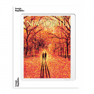Affiche The Newyorker drooker autumn leaves - 56 x 76 cm
