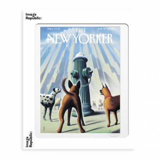 Affiche The Newyorker 200 drooker dog's eye view 27 juin 2005