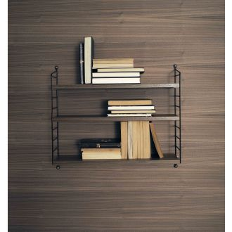 String Pocket Shelf - Walnut & Black