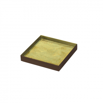 Plateau Gold leaf verre S