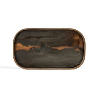 Vide-poche Bronze Organic Glass Rectangular M