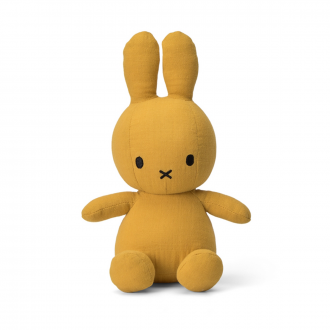 Peluche Lapin Miffy Mousseline Moutarde