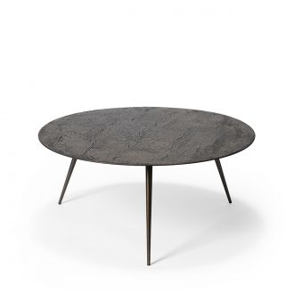 Table basse Luna Lava Linear Whisky Ø80cm