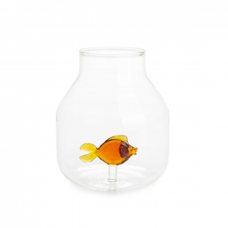 Vase Atlantis Poisson conique ambre