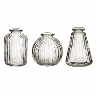 Set de 3 Vases en verre Transparent