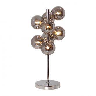 Lampe de table Splendor Chrome/Smokegrey