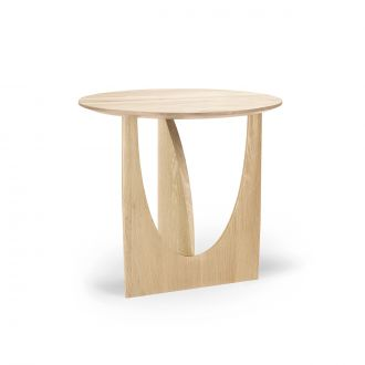 Table d'appoint Geometric Chêne vernis Ø51cm