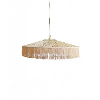 Suspension Parasol Franges MM Naturel