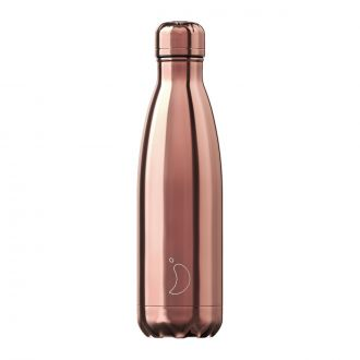 Bouteille isotherme Chrome or rose 500 ml