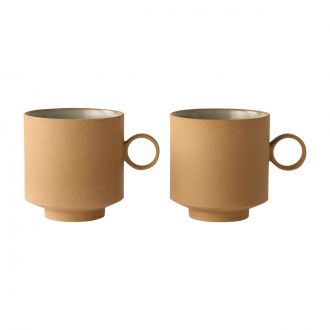 Set de 2 Tasses Bold & Basic Ocre