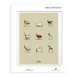Le Duo Chairs 40 x 50 cm Poster