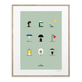 Le Duo Lamps 40 x 50 cm Poster