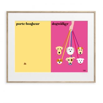 Poster Les Chiens by Vahram Muratyan