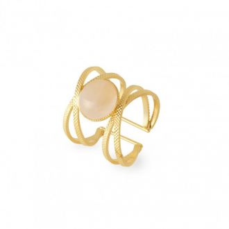 Bague Iris Quartz Rose