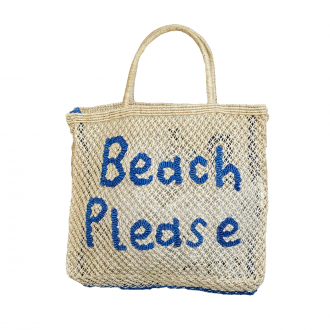 Sac Jute fait main Beach Please L