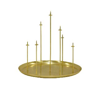 Bougeoir Multi Candle Pin Doré
