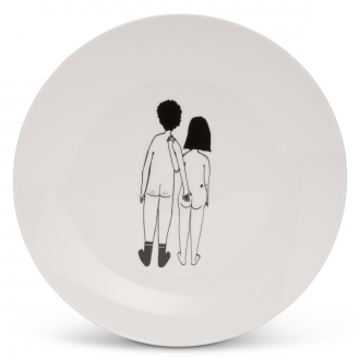 Assiette Naked Couple Back