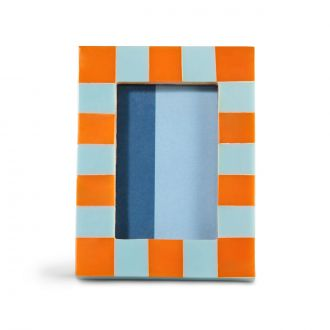 Cadre Photo Check Rectangle Orange
