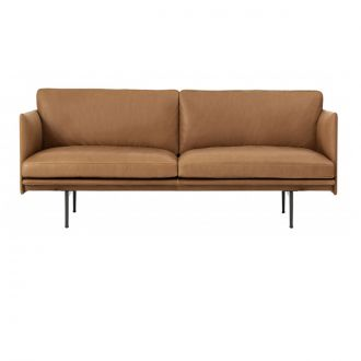OUTLINE SOFA / 2-SEATER - COGNAC