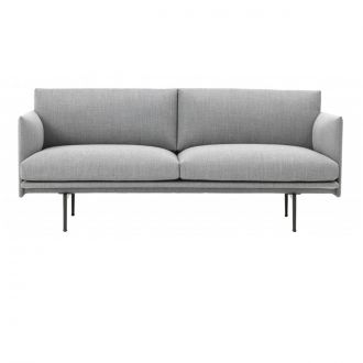 OUTLINE SOFA / 2-PL Base noire - Steelcut Trio 133