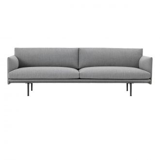 OUTLINE SOFA / 3-SEATER - STEELCUT TRIO 133