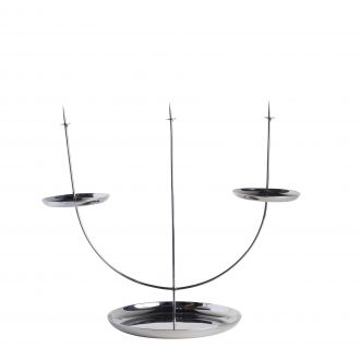 Candelabra Pin Candlestick Stainless Steel