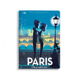 Carnet Monsieur Z Paris Love 15x21cm