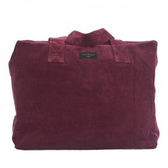 Sac 24h Celestins velours Bordeaux