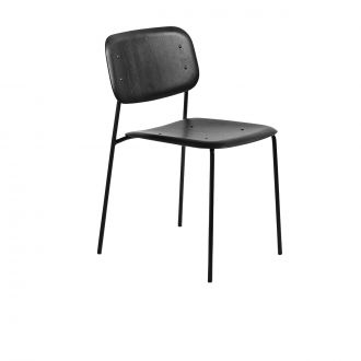 HAY - Soft Edge Steel and Oak Chair in Black