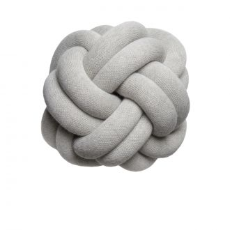 Coussin Noeud Gris Clair
