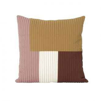 Coussin Shay Quilt Moutarde PM