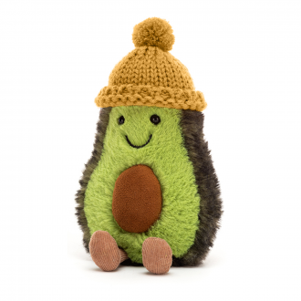 Peluche Amuseable Avocat - Bonnet moutarde
