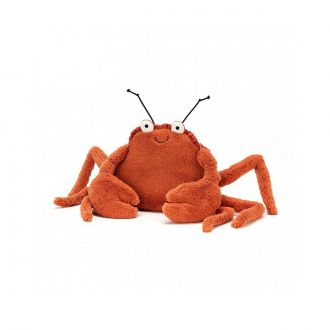 Peluche Crispin le crabe rouge