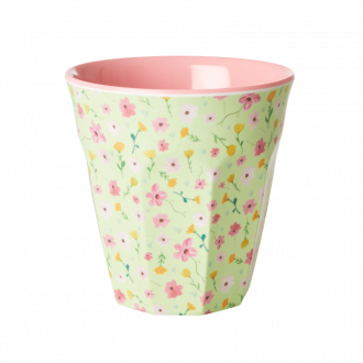 Tasse melamine green easter flower M