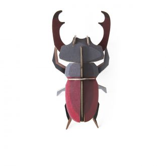 Grey & Red Scarab Wall Decoration