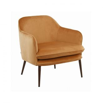 Fauteuil Charmy Velours Gold
