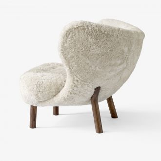 Fauteuil Little Petra VB1 - Noyer / Mouton Skandilock Moonlight