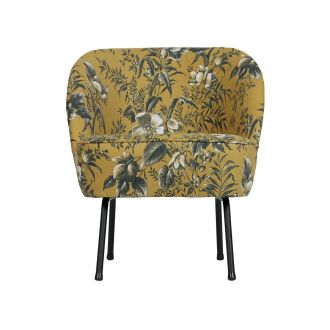 Fauteuil Vogue Velours Poppy Moutarde