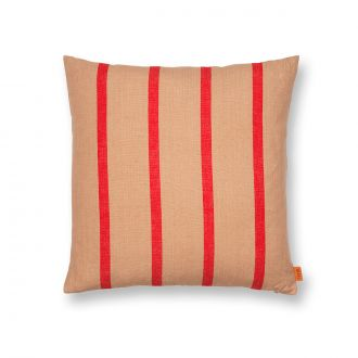 Coussin Grand - Camel/Rouge