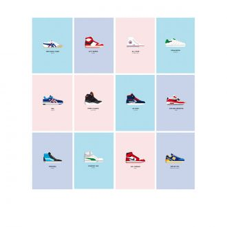 Le Duo Sneakers Set of 12 Postcards