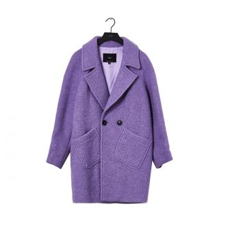 Manteau Margot en laine Violet