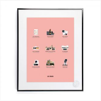 "Poster by Le Duo - ""Architecture"" - 40x50"