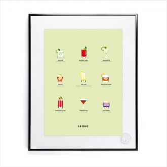 "Poster by Le Duo - ""Cocktails"" - 40x50"