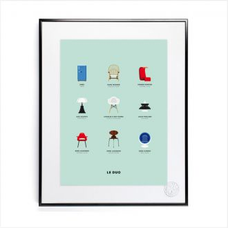 "Poster by Le Duo - ""Design"" - 40x50"