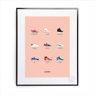 "Poster by Le Duo - ""Sneakers"" - 40x50"